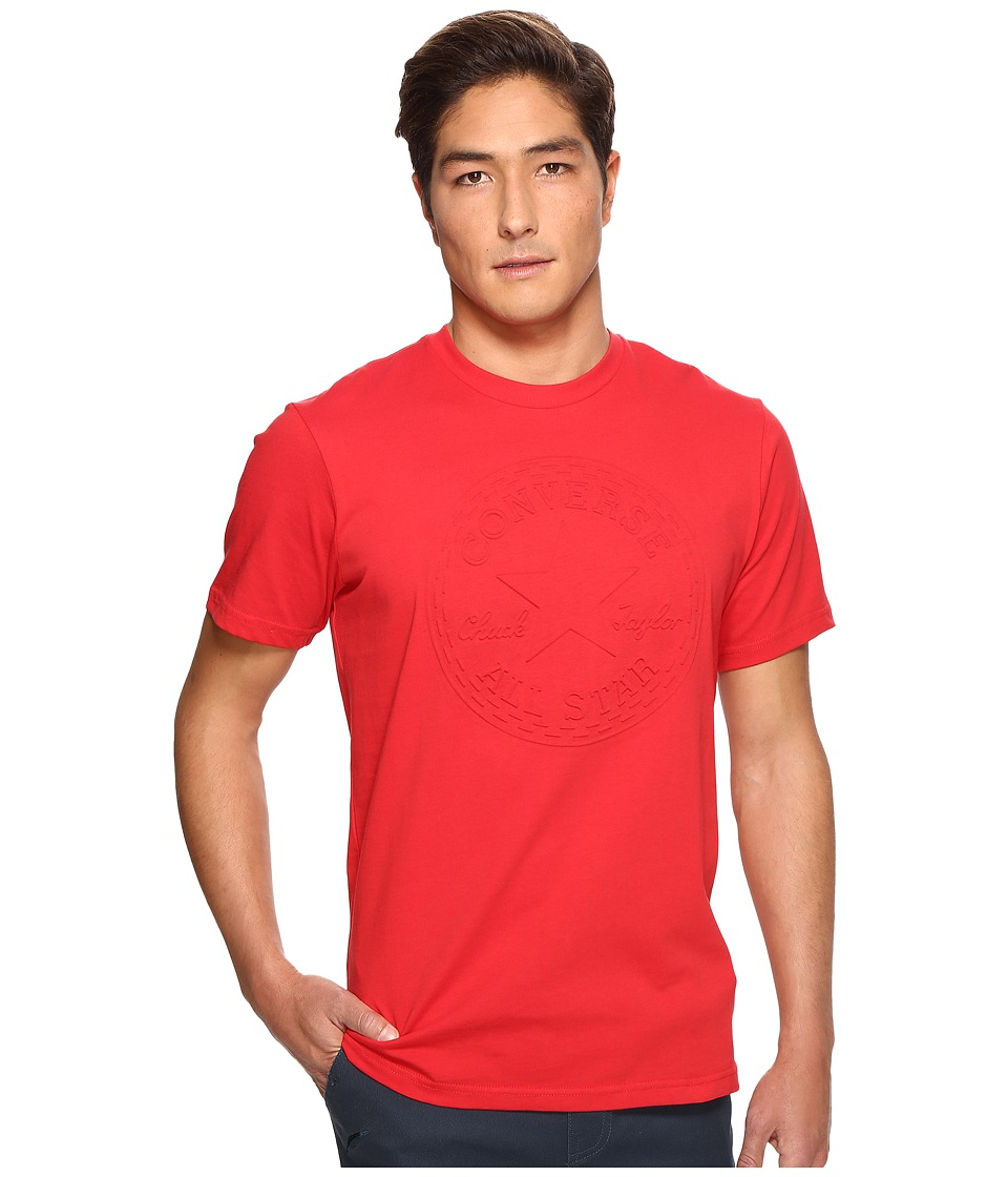 Converse Embossed Chuck Patch Tee (Casino Red) Men