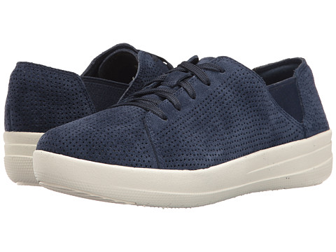 FitFlop F-Sporty Lace-Up Sneaker Perf - Midnight Navy