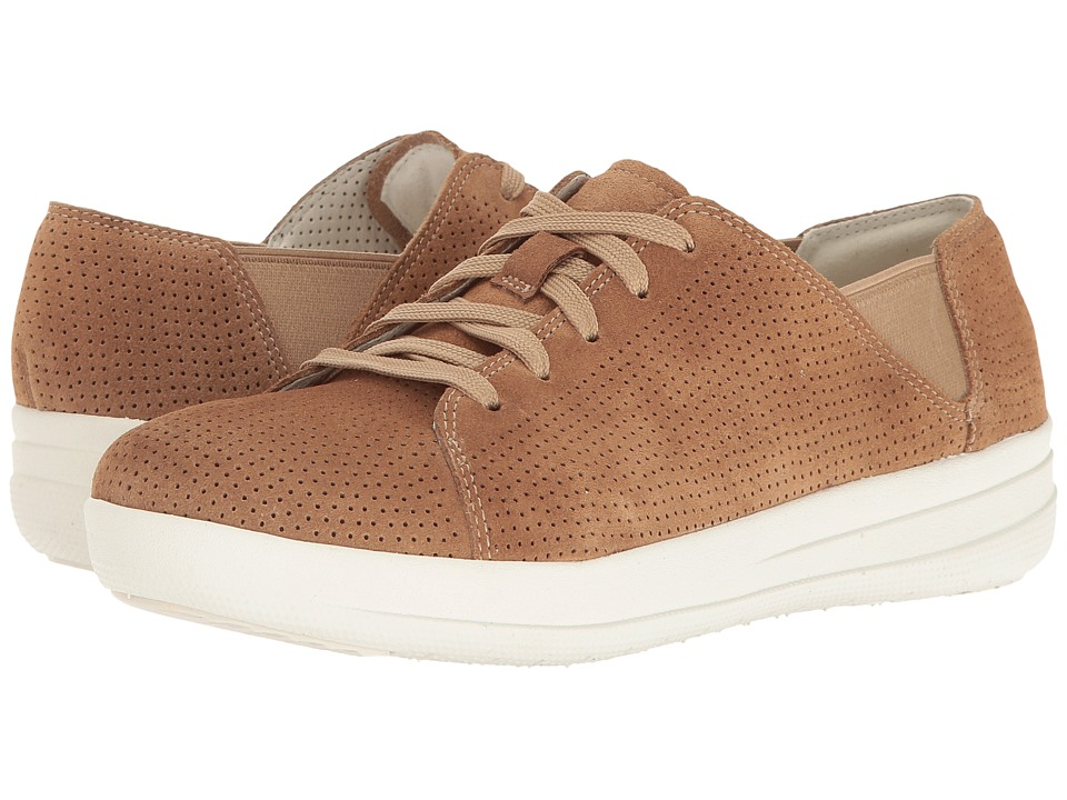 FitFlop F-Sporty Lace-Up Sneaker Perf (Soft Brown) Women