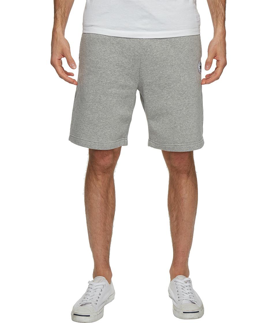 Converse Core Reflective Fleece Shorts (Vintage Grey Heather) Men