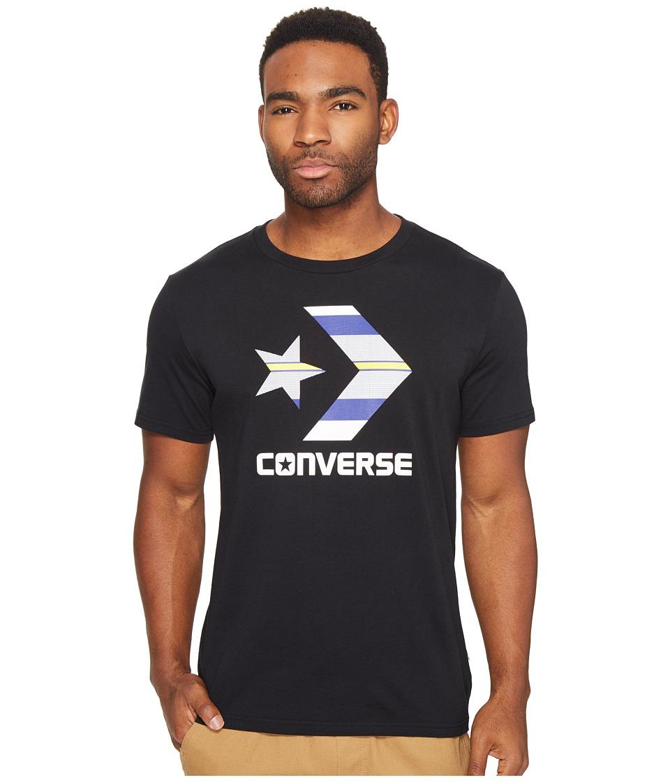 Converse Star Chevron Stripe Fill Tee (Black) Men