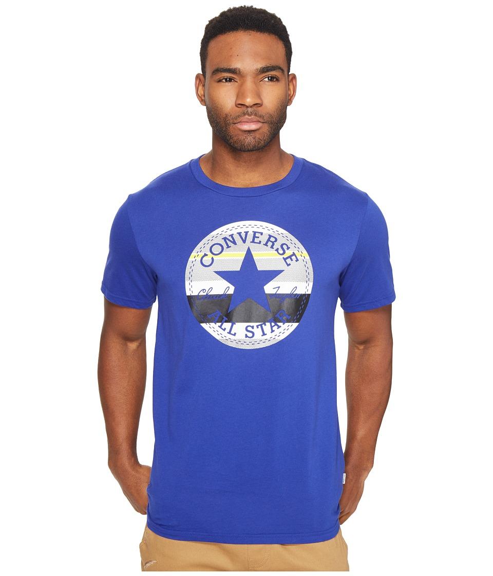 Converse Stripe Fill Chuck Patch Tee (Soar Blue) Men