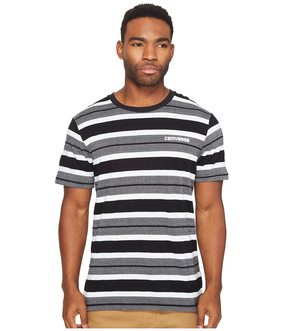 Converse Engineered Stripe Tee (Black/White Multi) Men