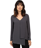 Karen Kane - Long Sleeve Draped Angle Top