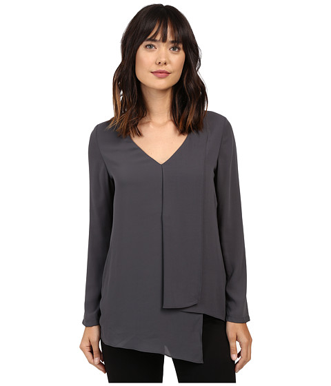 Karen Kane Long Sleeve Draped Angle Top