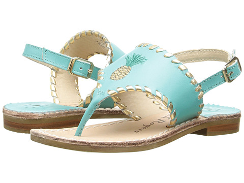 Jack Rogers Little Miss Pineapple (Toddler/Little Kid) - Caribbean Blue/Gold