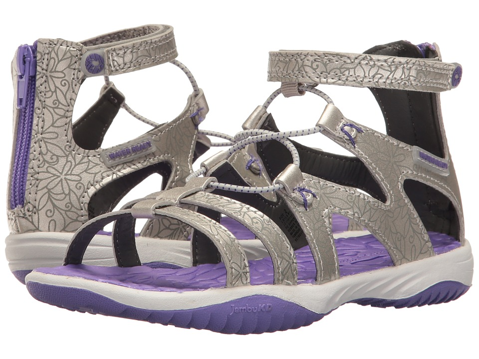 Jambu Kids Leilani (Toddler/Little Kid/Big Kid) (Silver/Purple) Girls Shoes