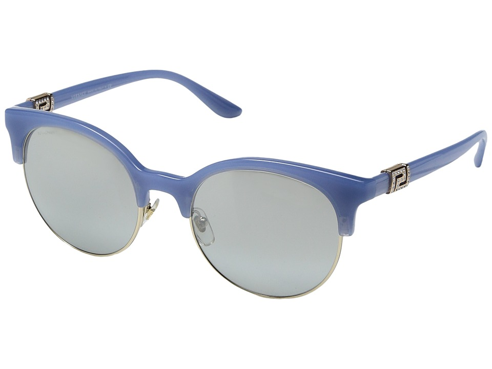 Versace - VE4326B (Opal Azure/Pale Gold/Light Grey Mirror Gradient Silver) Fashion Sunglasses