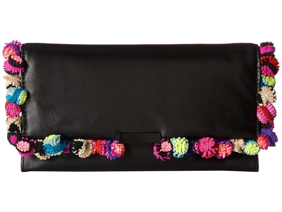 Loeffler Randall Tab Clutch (Black/Multi) Clutch Handbags