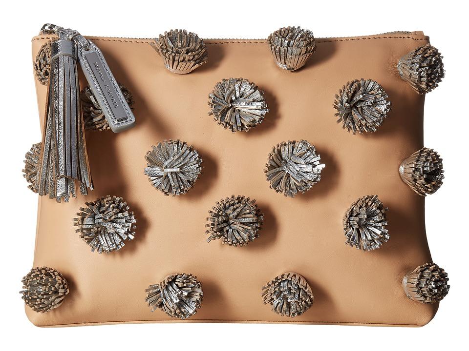 Loeffler Randall Tassel Pouch (Natural/Silver) Clutch Handbags