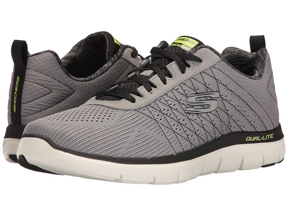 SKECHERS - Flex Advantage 2.0 The Happs (Light Gray/Black) Mens Shoes