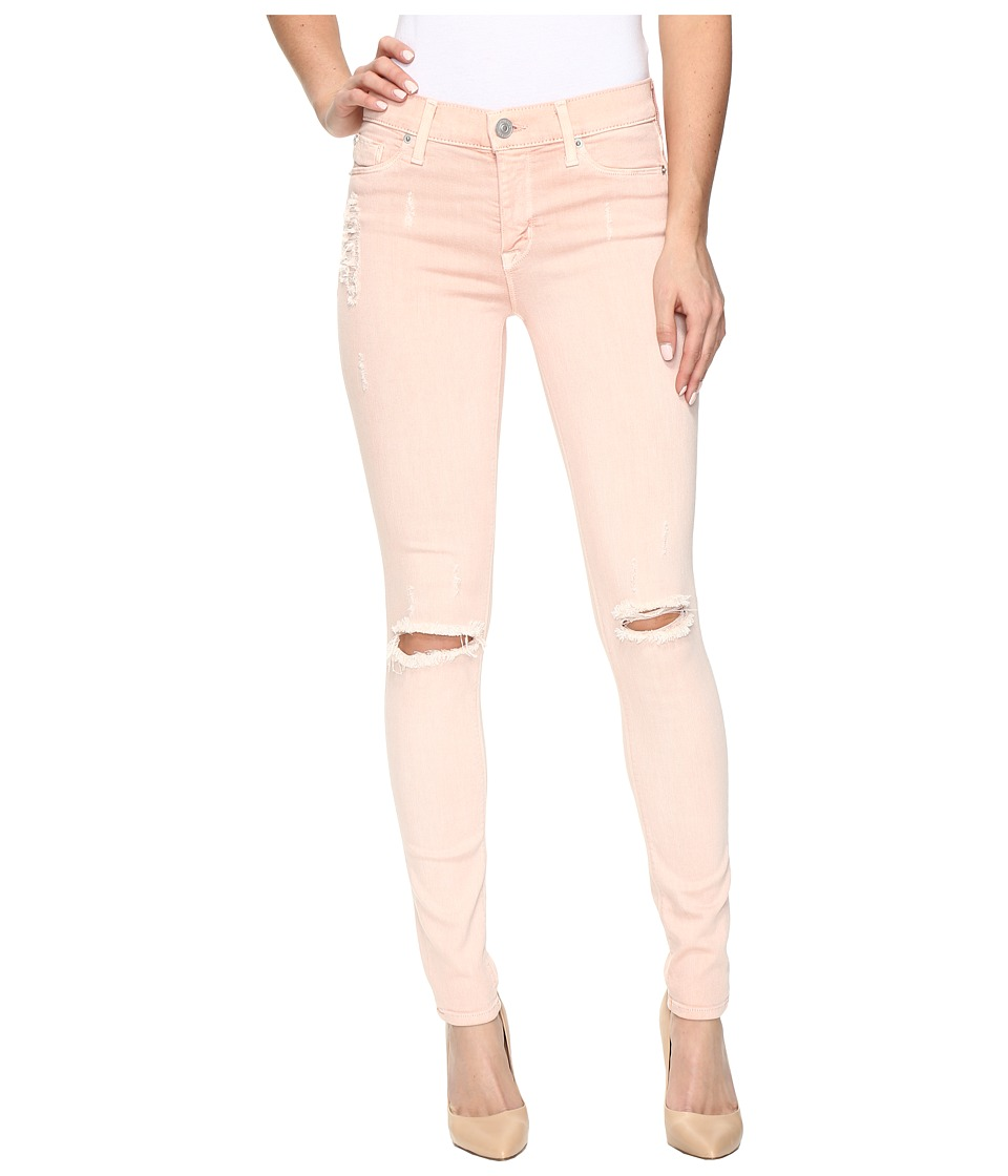 Hudson Nico Mid-Rise Super Skinny in Sunkissed Pink Destructed (Sunkissed Pink Destructed) Women