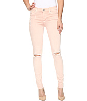 Hudson - Nico Mid-Rise Super Skinny in Sunkissed Pink Destructed