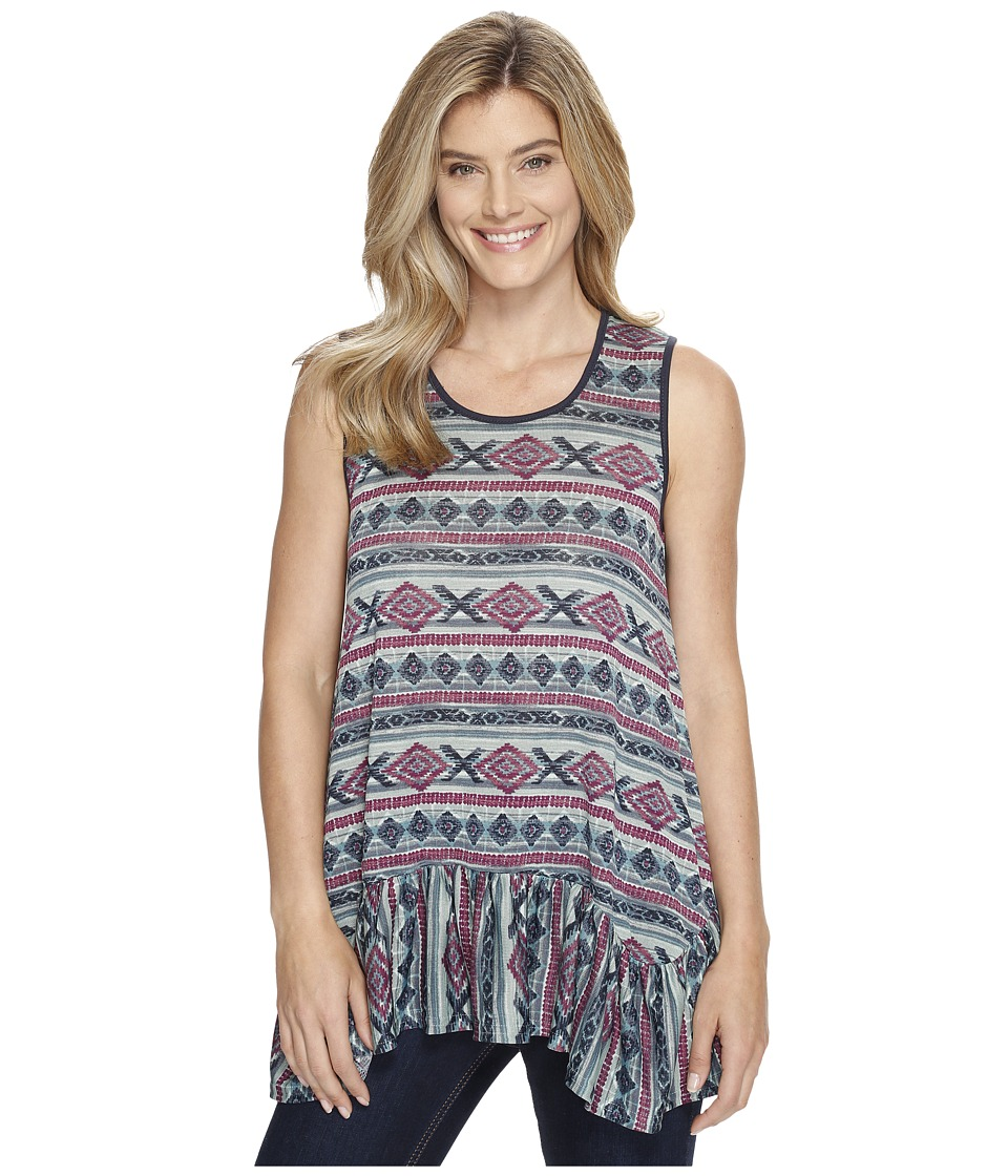 Double D Ranchwear - Butterfly Bleu Tank Top