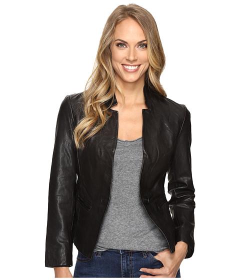 Lucky Brand Leather Blazer - Lucky Black