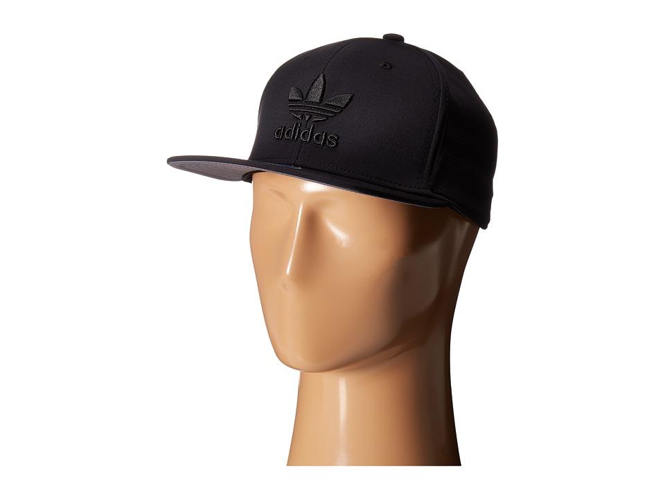 adidas - Originals Beacon II Snapback (Black/Black) Caps