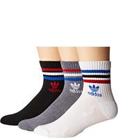 adidas - Originals Roller High Quarter Socks 3-Pack