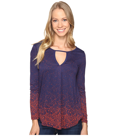 Lucky Brand Printed Top - Navy Multi