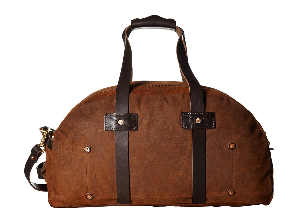 Billy Reid Worn Leather Double Zip Duffel Bag (Tobacco) Duffel Bags