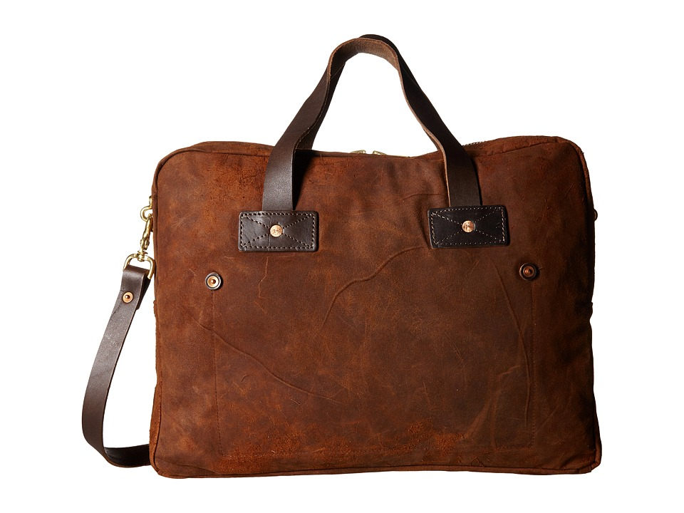 Billy Reid Worn Leather Messenger Bag (Tobacco) Messenger Bags