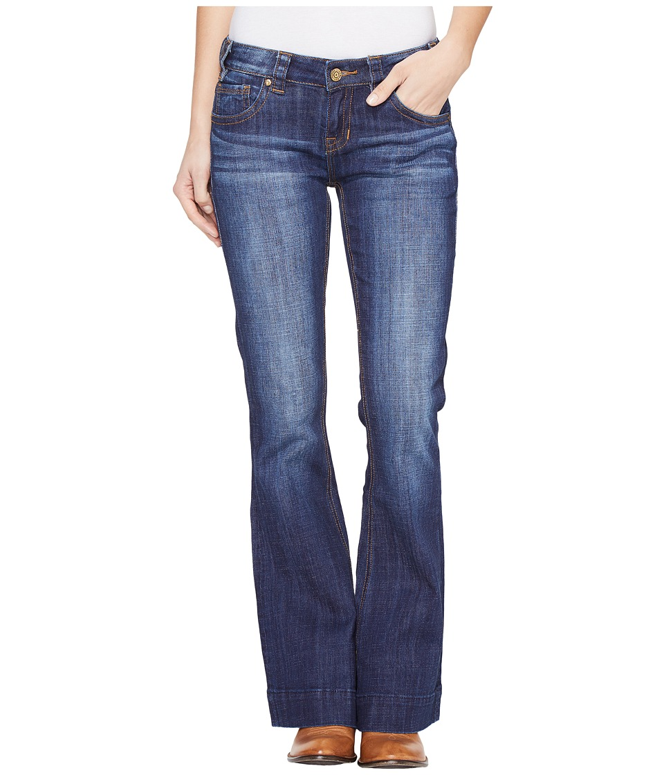 Rock and Roll Cowgirl - Trousers Low Rise in Dark Wash W8-1401