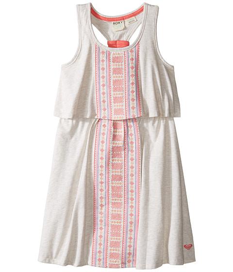 Roxy Kids Slub Jersey Dress w/ Embroidery (Little Kids/Big Kids)