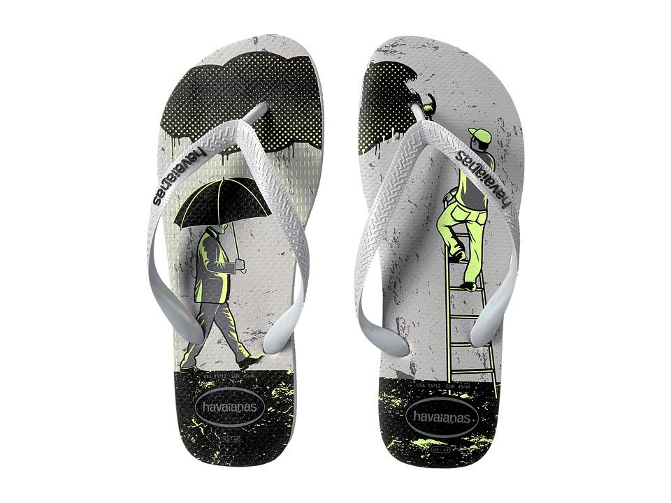 Havaianas 4 Nite Flip Flops (Ice Grey/Grey/Black) Men