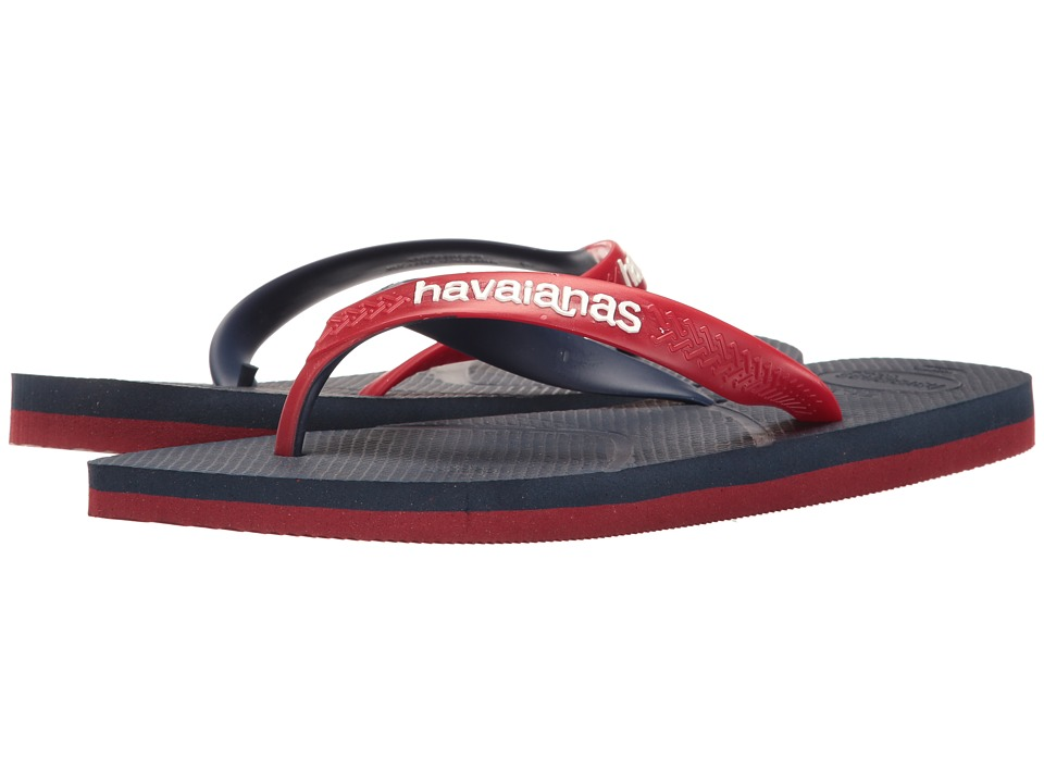 Havaianas - Casual Flip Flops (Navy Blue/Red) Men's Sandals