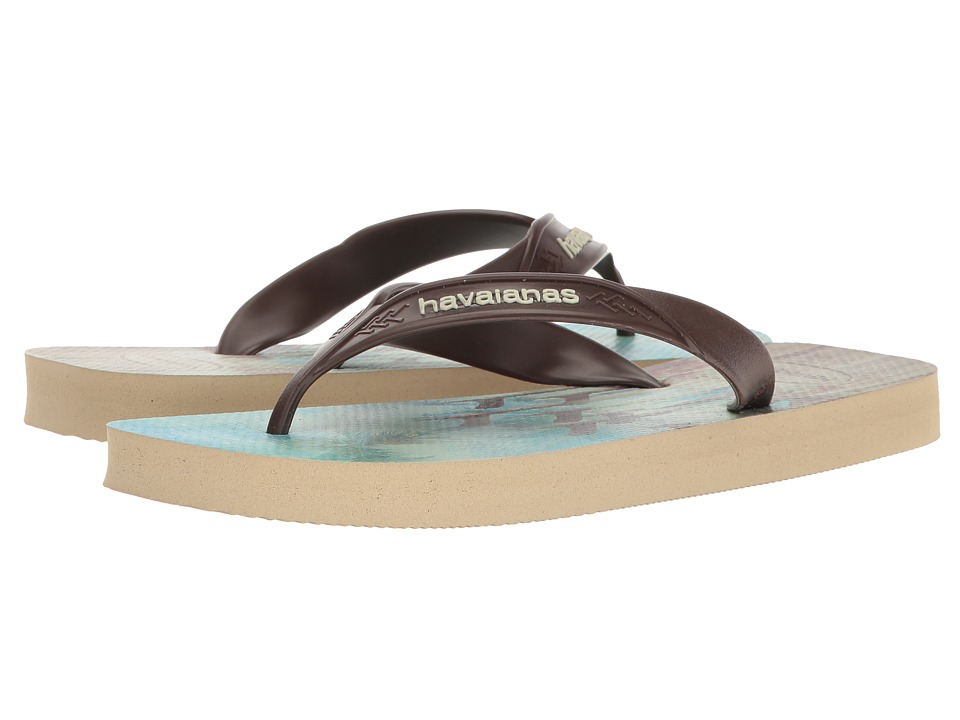 Havaianas Surf Flip Flops (Sand Grey/Dark Brown) Men
