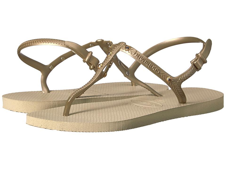 Havaianas Freedom Crystal SW Flip-Flops (Sand Grey) Women