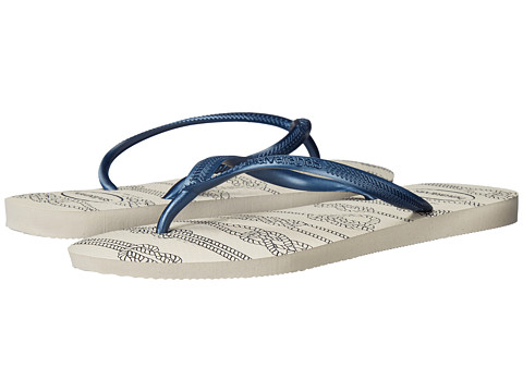 Havaianas Slim Nautical Flip-Flops - White
