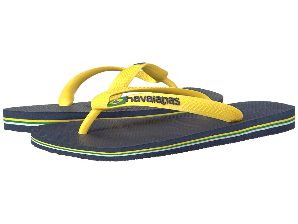 Havaianas - Brazil Logo Flip Flops (Citrus Yellow 1) Men's Sandals