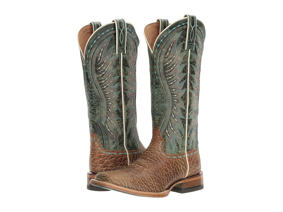 AriatVaquera  (Misty Turquoise Elephant Print-Meadowbrook) Cowboy Boots