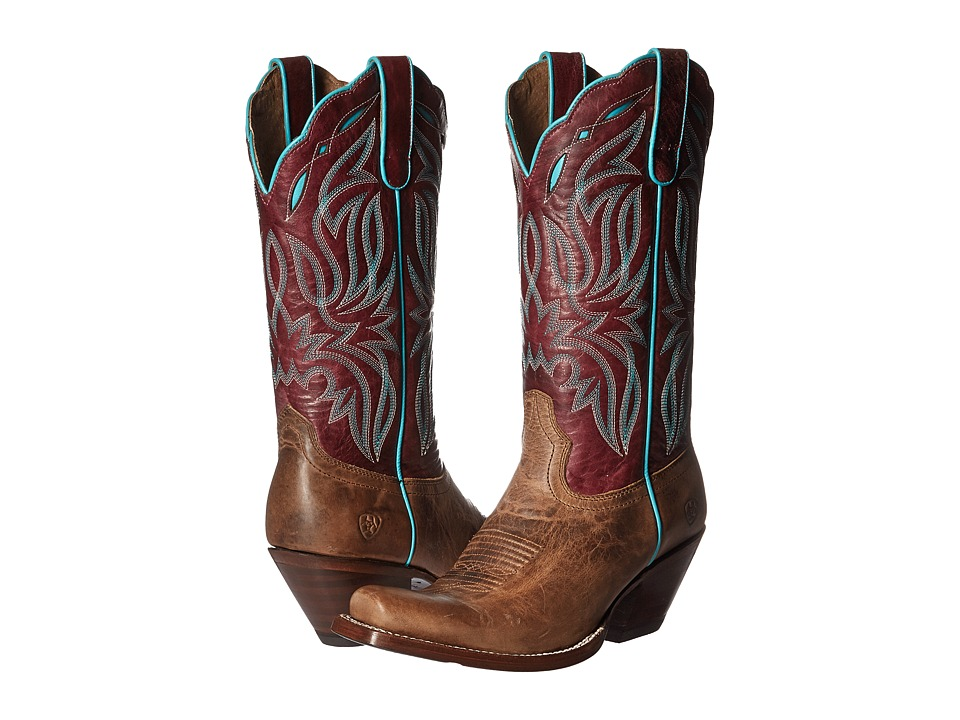 Ariat Bristol (Taupe/Sangria Shimmer) Cowboy Boots