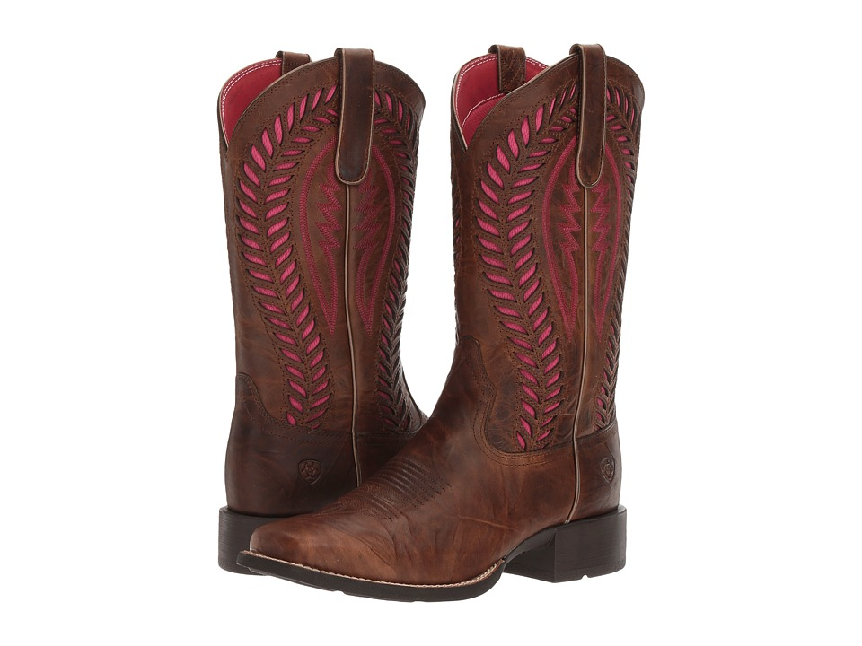 Ariat Quickdraw Venttek (Barn Brown) Cowboy Boots