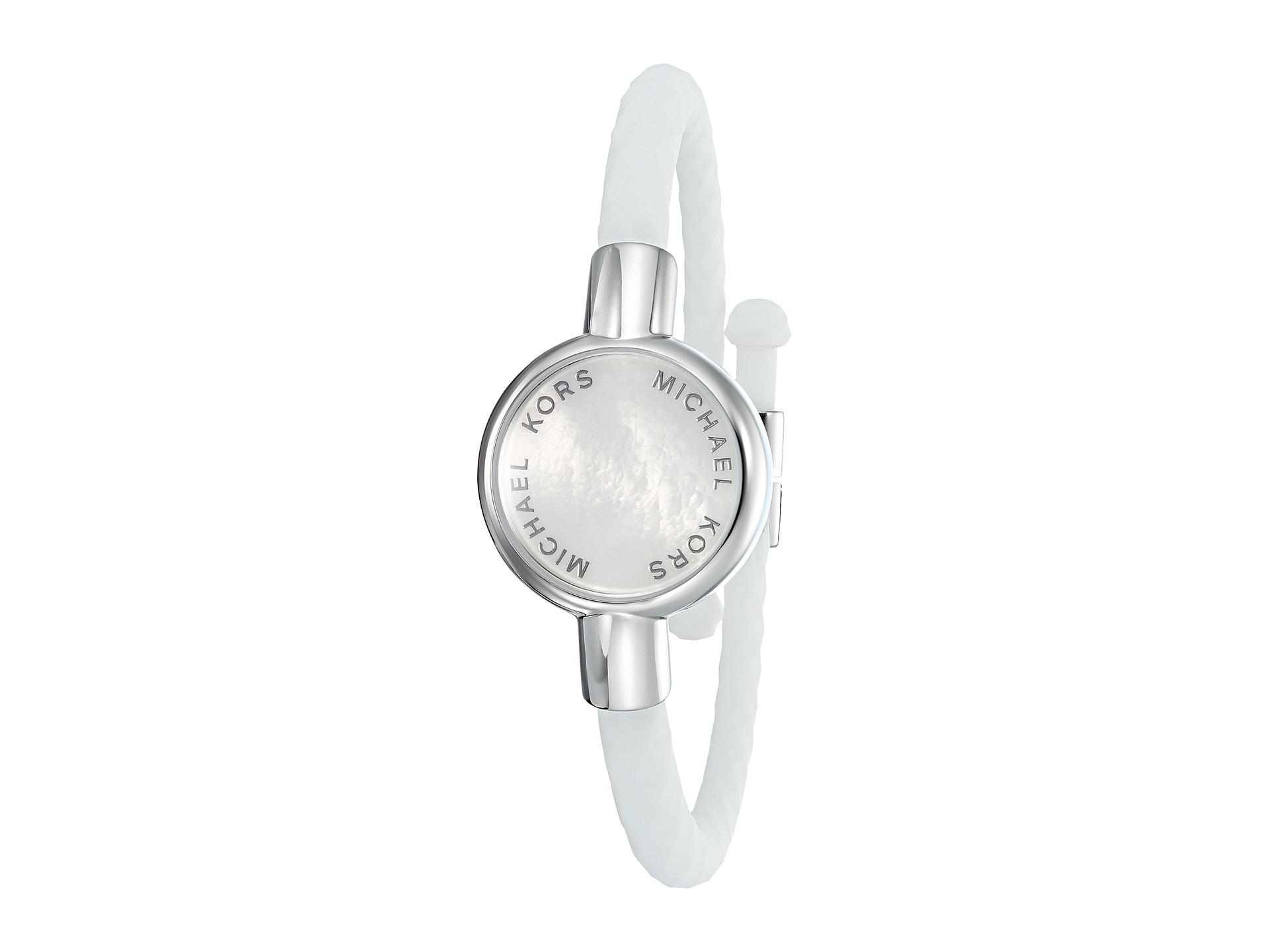 michael kors access silicone tracker bracelet silver. Black Bedroom Furniture Sets. Home Design Ideas