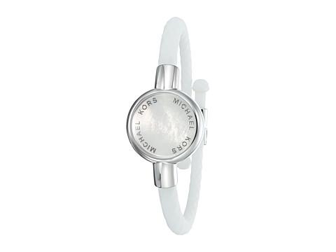 michael kors silicone tracker bracelet silver. Black Bedroom Furniture Sets. Home Design Ideas
