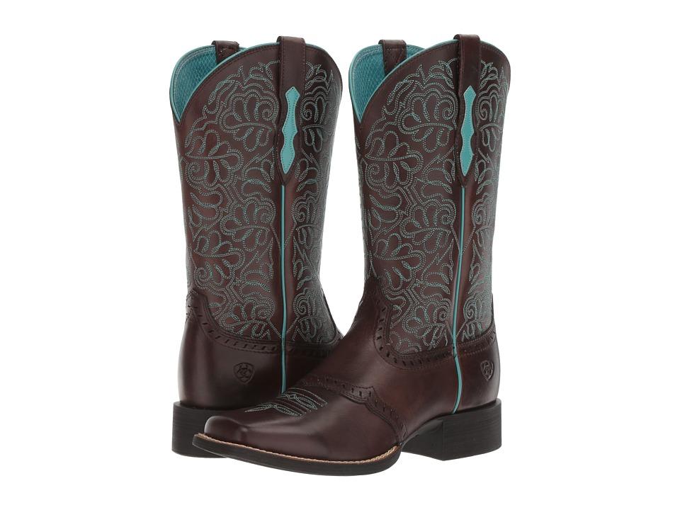 Ariat Round Up Remuda (Naturally Dark Brown) Cowboy Boots