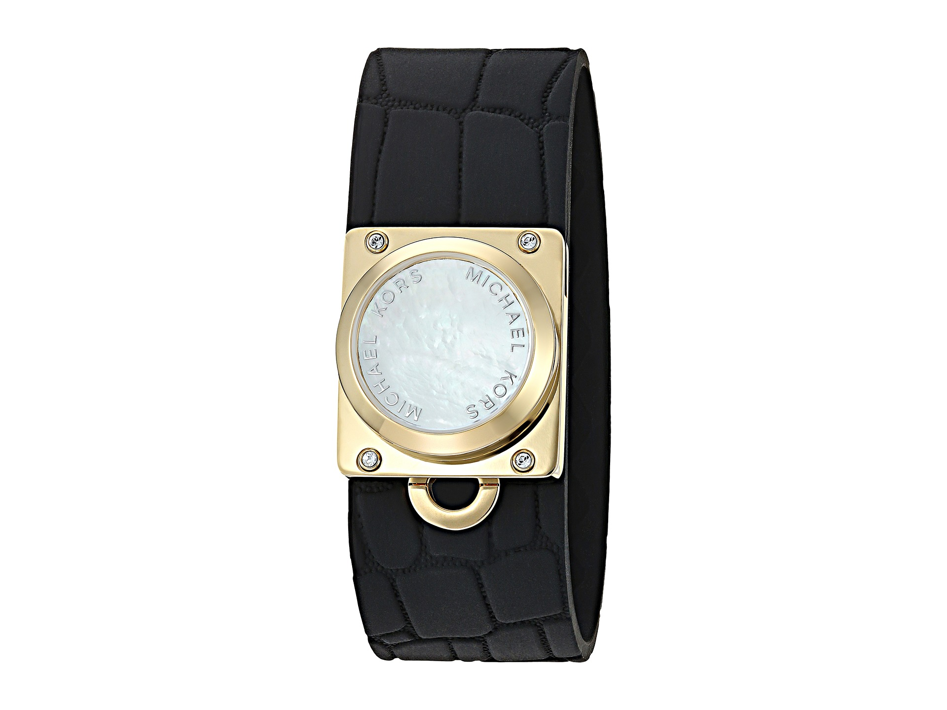 michael kors access croco embossed silicone tracker. Black Bedroom Furniture Sets. Home Design Ideas