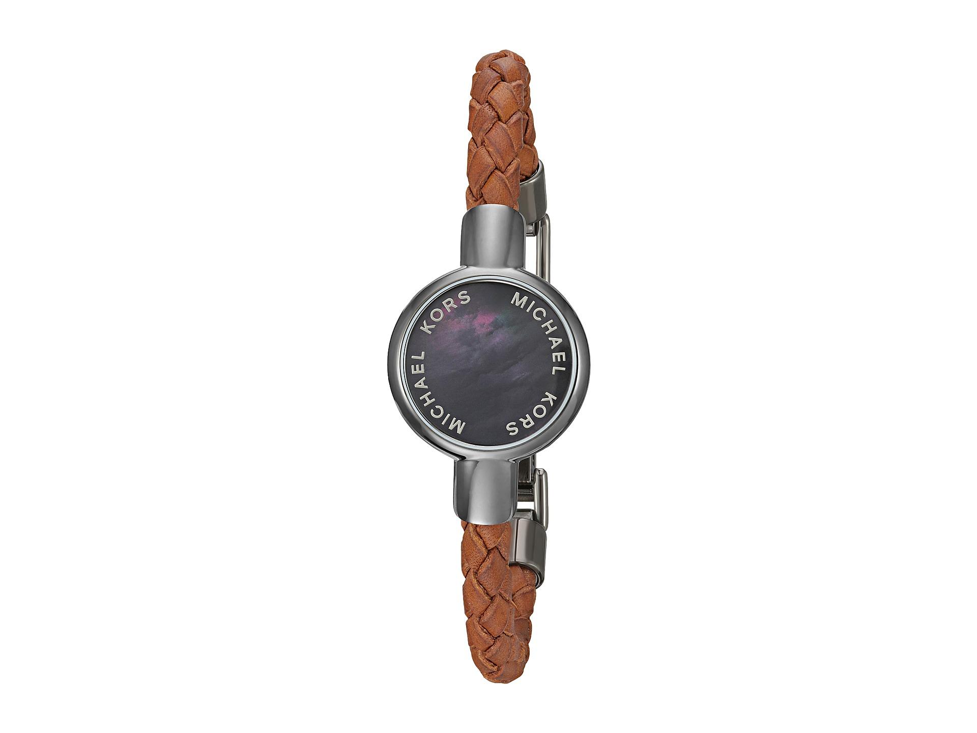 michael kors access leather tracker bracelet. Black Bedroom Furniture Sets. Home Design Ideas