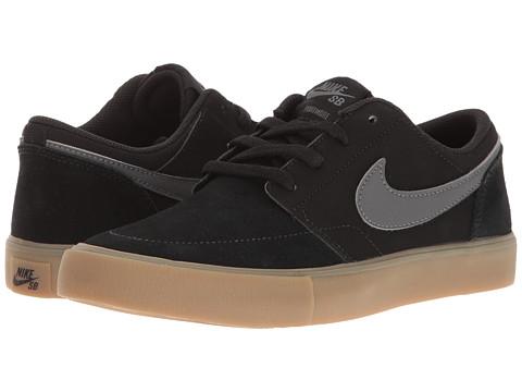 Nike SB Kids Portmore II (Big Kid) - Black/Dark Grey/Gum/Light Brown