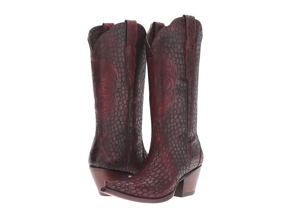 Ariat Catrina (Naturally Red Croc Print) Cowboy Boots