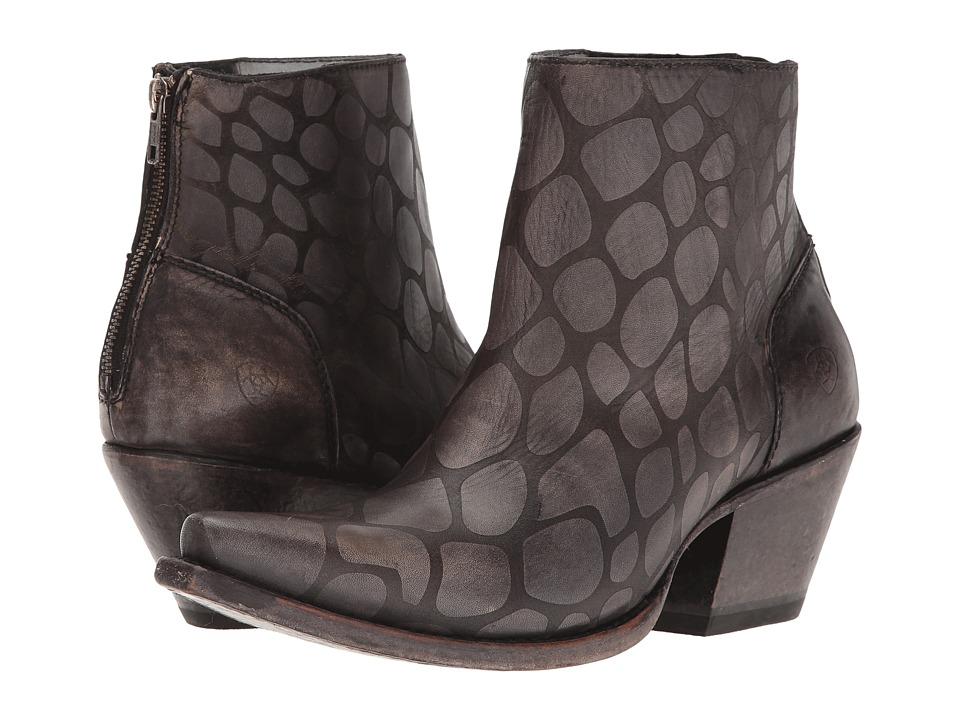 Ariat Benita (Naturally Black Snake Print) Cowboy Boots