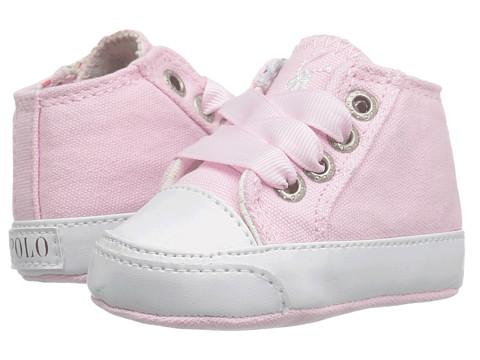 Polo Ralph Lauren Kids Bailey (Infant/Toddler) - Light Pink Canvas/Cream