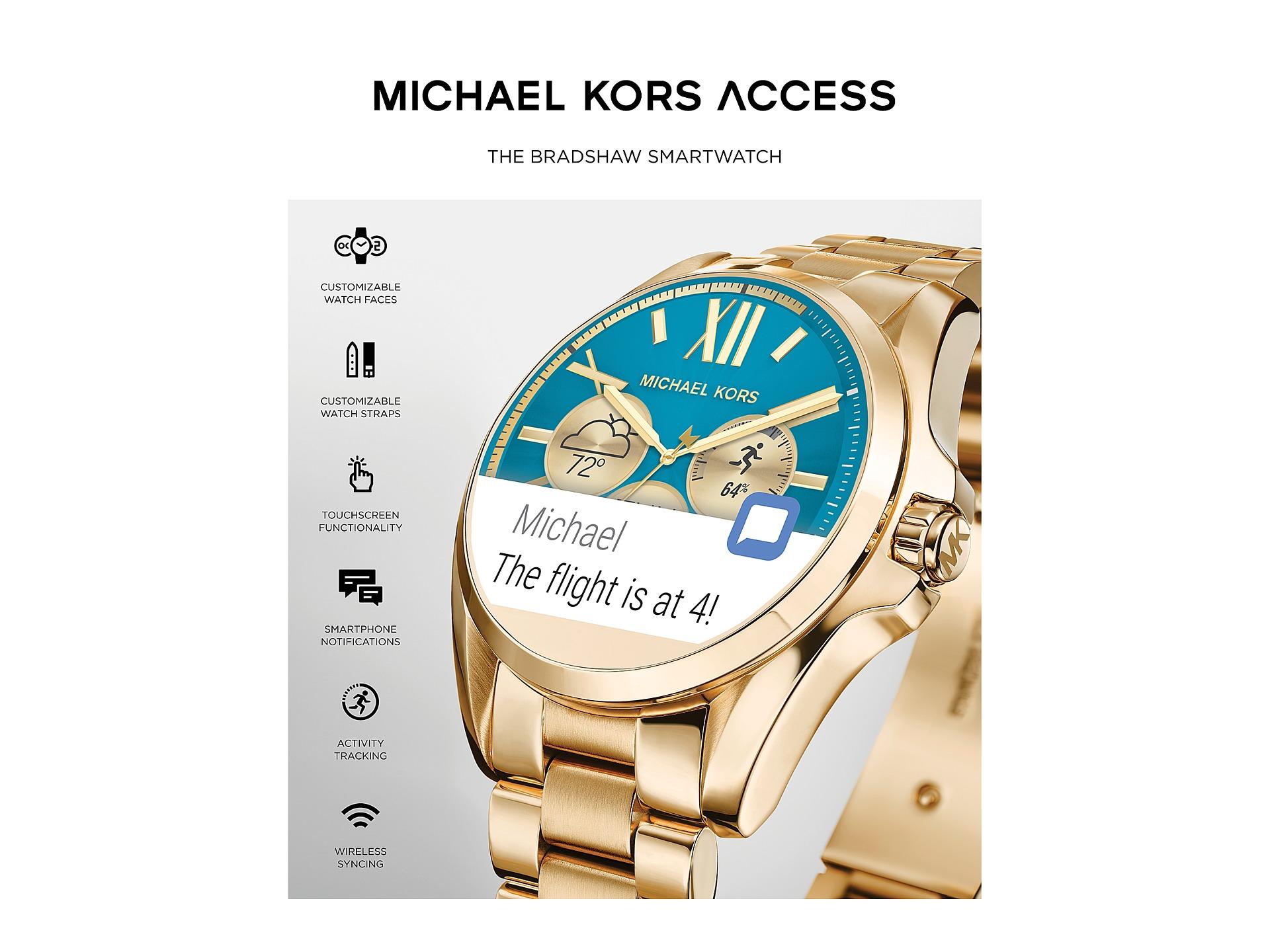 michael kors access bradshaw display smartwatch mkt5005 free shipping both ways. Black Bedroom Furniture Sets. Home Design Ideas