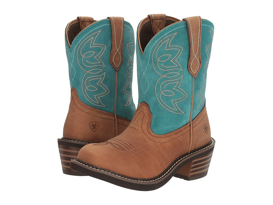 Ariat Charlotte (Tan/Turquoise) Cowboy Boots