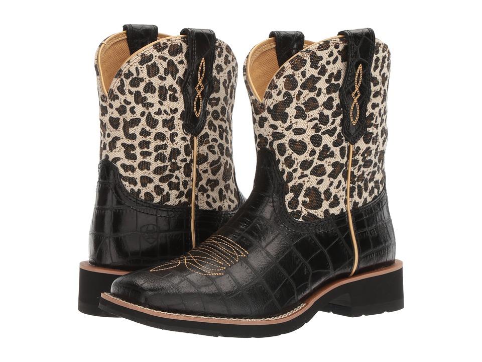 Ariat Rosie (Black Gator Print/Gold Leopard) Cowboy Boots
