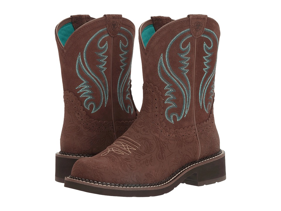 Ariat - Fatbaby Heritage (Tooled Brown/Brown) Cowboy Boots