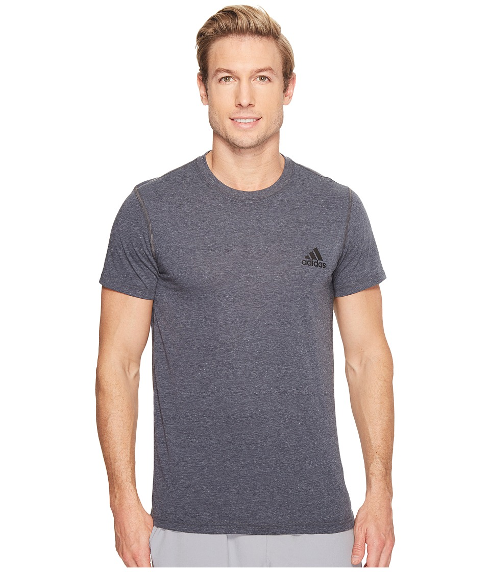 adidas Ultimate Crew Short Sleeve Tee (Dark Grey Heather) Men
