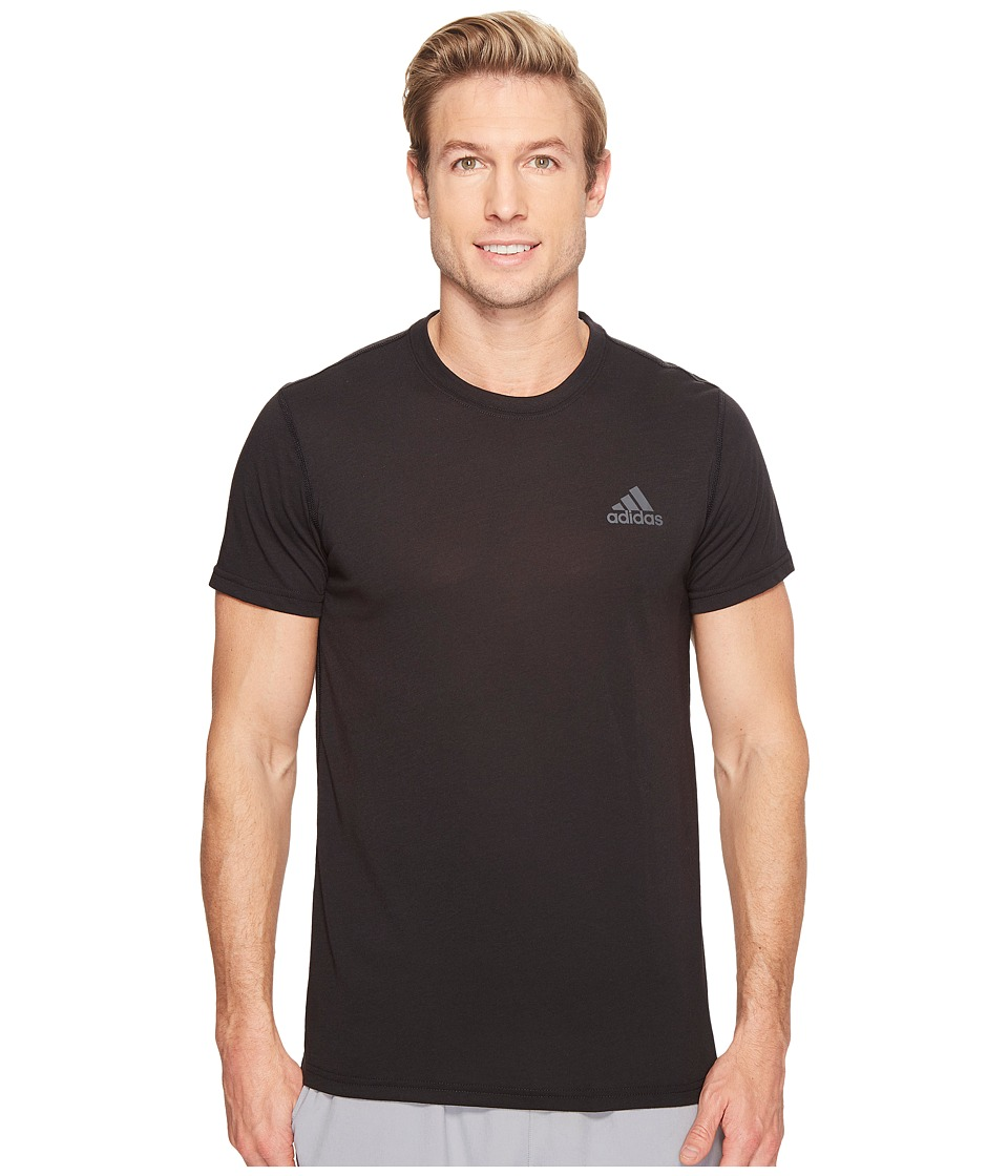 adidas Ultimate Crew Short Sleeve Tee (Black) Men